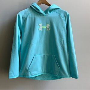 NWT Under Armour Snow Camo Teal Hoodie